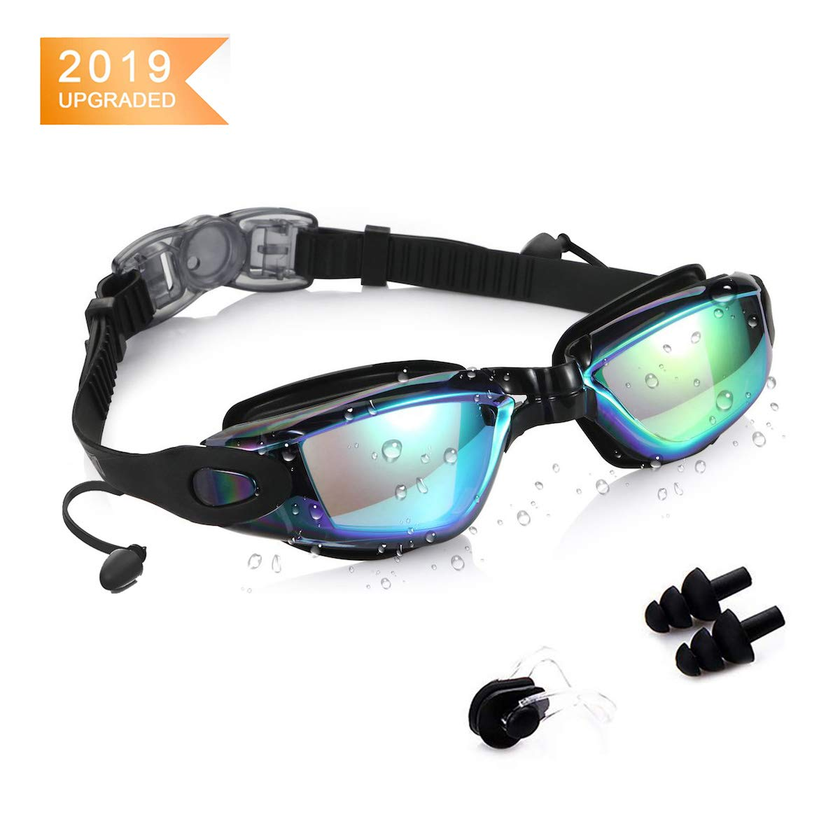 KAILH Gafas de Natación, Antiniebla Gafas Natacion, Protección UV sin Fugas, Gafas para Nadar para Adulto Hombre Mujer y Niños