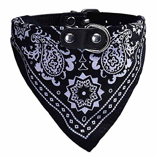 Malloom® Regolabili Cuccioli Pet Dog Cat Collari sciarpa fazzoletto da collo la collana Triangle (Nero)