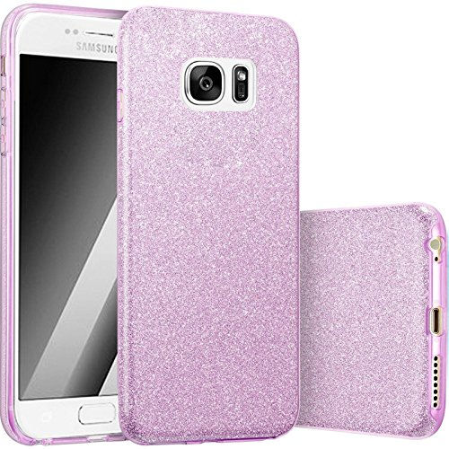 3in1 Cas De Paillettes Iphone - or, Iphone 6/6S lilas