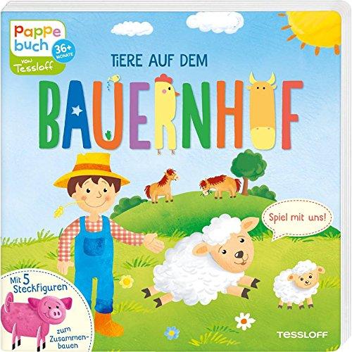 Tiere auf dem Bauernhof: Spiel mit uns! Mit 5 Figuren zum Zusammenstecken (Bilderbuch ab 3 Jahre)