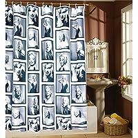 awakingdemi impermeable Marilyn Monroe patrón casa baño cortina de ducha 180180cm