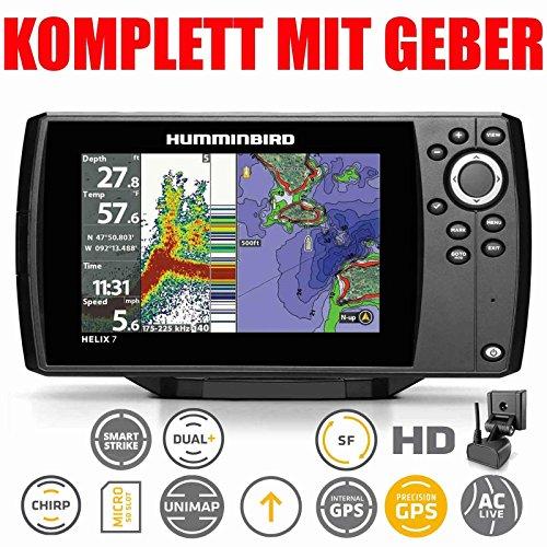 Humminbird Helix 7 Chirp GPS G2 Echolot Seekartenplotter Combo Festmontage