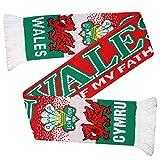 Écharpe de Supporter du Rugby et du Football Pays de Galles (100% Acrylique)