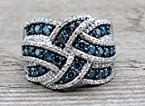 Ringe Schmuck Schlüsselring Saphirring Schlüsselringe Kette Kreuz Farbe Ring Verlobungsringe Frauen Ringe Ehering Modern Ring 7 königsblau