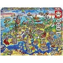 Educa Borrás - Puzzle de 1000 piezas, Europa en el Mundo (16752)