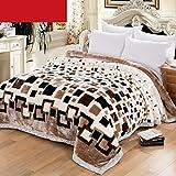 Decke Weiße Schachbrettmuster Schlafzimmer Bett Vier Jahreszeiten Freizeitdecke Weiche und Bequeme Doppelte Isolierung Rollsnownow (größe : 175 * 215cm)