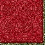 Duni serviettes Motif Festive Charme Red 40x 40cm Lot De 12