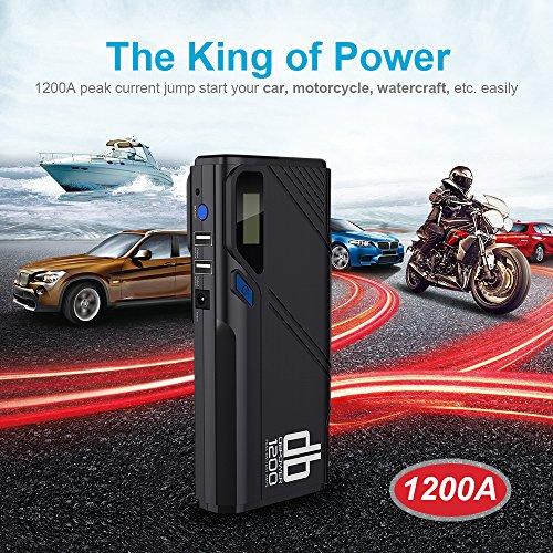 DBPOWER-1200A-Avviatore-Portatile-dEmergenza-per-Auto-per-Motori-Benzina-fino-a-65L-Diesel-fino-a-52L-e-altro-Avviamento-e-Ricarica-Batteria-Auto-Power-Bank-e-Ricarica-Telefono-con-Torcia-Incorporata-