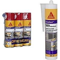 Sika Boom XL, Mousse expansive blanche d'isolation thermique et acoustique et remplissage de cavités, Lot de 3x400ml…