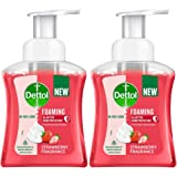 Dettol Foaming Handwash Pump - Strawberry (Pack of 2-250ml each)   Rich Foam   Moisturizing Hand Wash   Soft on Hands