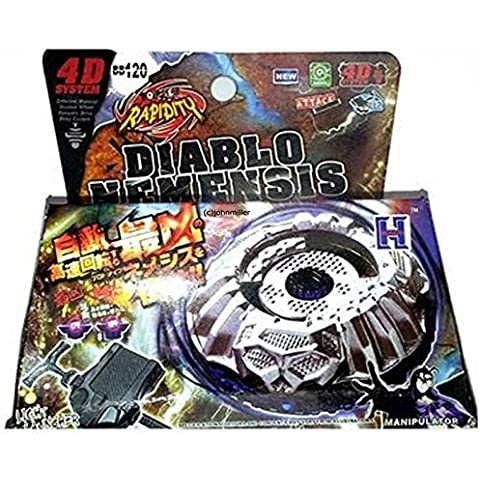 Beyblade PROTO DIABLO NEMESIS w/ Launcher & Ripcord in RETAIL PACKAGING by Rapidity, Hongyi