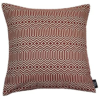 McAlister Colorado Kissenhülle Fall Fall – Smooth Touch, Geometrisches Muster, 43 cm, Rot