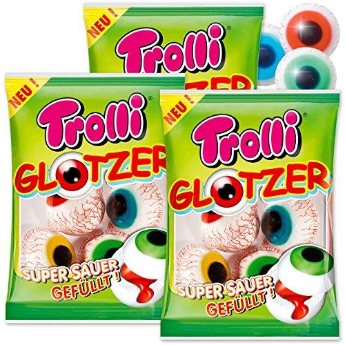 PartyMarty 12 Trolli Glotzer - der fruchtig-saure Grusel-Spass - Halloween Süßigkeiten