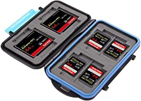 King of Flash Anti-shock Waterproof Memory Card Case Holder Hard Storage 4x CF (Compact Flash) 8x SD / SDHC (Secure Digital) MC-2