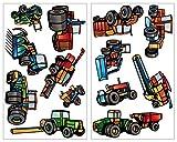 plot4u 13-Teiliges Trecker Traktor und Fahrzeug Set Wandtattoo Mähdrescher Landmaschinen LKW Wandsticker in 5 Größen (2x27x43cm Mehrfarbig)