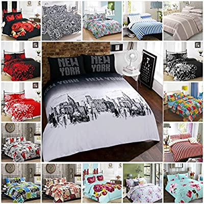 AR's Unique Designs Duvet Cover with Pillow Case Quilt Cover Bedding Set All Sizes - cheap UK light store.