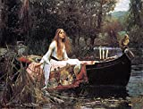 The Museum Outlet - John William Waterhouse The Lady of Shalott, galleria avvolto su tela. 40,6 x 50,8 cm