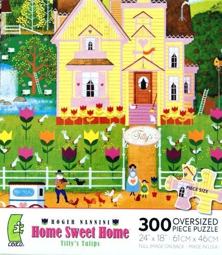 ROGER NANNINI HOME SWEET HOME Moo Milk Farm Puzzle 300 Oversized Pieces Sonstige