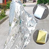 Dosige Manta de rescate,Manta de aislamiento,Papel de aluminio de doble cara Manta,Manta de aislamiento,Manta reflectante,Manta de emergencia