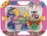 Quercetti 0906 - Mosaik-Steckspiel Fanta Color Design Minnie, 320 Stecker in 3 Größen (10,15,20mm)
