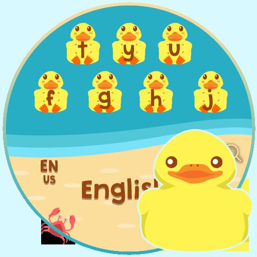 Cartoon Young Duck Chic keyboard Theme