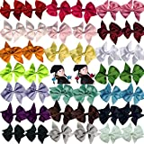 40pcs 3.5 inches Girls Kids Children Baby Hair Bows Alligator Hair Clips Grosgrain Ribbon Headbands (20 Pairs) by Cellot