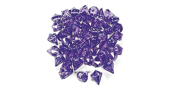 Dekosteine Diamanten aus Plastik Lila Tischdeko Streuteile 25 Stück