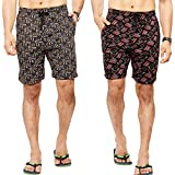 Bumchums Bermuda for Boys & Men's with Pocket(Mix Print & Colour) (Pack of 2)