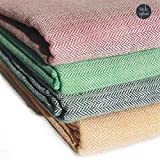 #4: Style Urban Cool Combo Of 100% Cotton Handloom Made Traditional Single Bed Skin Friendly Summer Blanket / Khes Pack Of 2