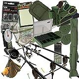 pêche à la carpe 3 x tige et MOULINET COMPLET MONTAGE + CARRY ALL alarmes matériel PVA pied