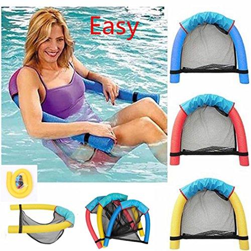 artistic9Schwimmen Schwimmende Stuhl, Pool Floating Sitze Pool Nudel Sessel Schwimmen Ausrüstung Sonnenliegen Wasser Erholung Spielzeug für Kinder Erwachsene, Karbonstahl, blau, Size:6.5x150cm/2.6x59.1