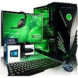 "VIBOX Apache 9XSW - Ordenador para gaming (21.5"", AMD FX-6300, 8 GB de RAM, 2 TB de disco duro, Nvidia Geforce GTX 960, Windows 10) color neón verde - Teclado QWERTY Inglés"