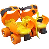 SQUICKLE Dry Skates for Kids with Front Breaks (Colour May Vary)(Size- 4 to 12 Years)