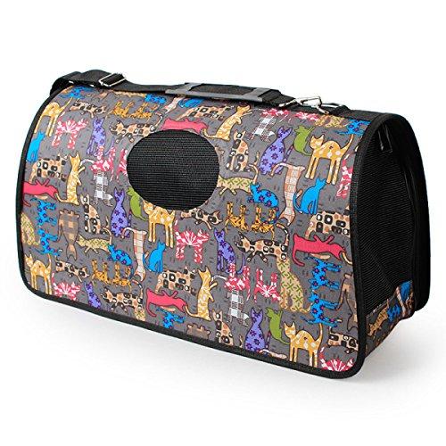 LQQAZY Oxford Stoff Haustier Rucksack Hund Sling Umhängetasche aus Tragbaren Tasche Multi-Muster Haustier Tasche,C-M