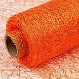 Dekostoff orange, Rolle 9 m x 30 cm, Tischläufer, Dekonetz, Tischband, Netzstoff, Textil Netzgewebe