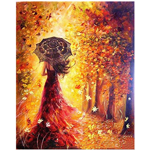 Digital Bricolaje Hermosa Chica Pintura óleo Colorear