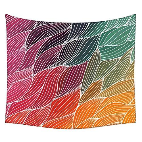 snoogg-vector-abstrakt-hand-drawn-wellen-textur-wandteppichen-indischen-mandala-tapisserie-dekorativ