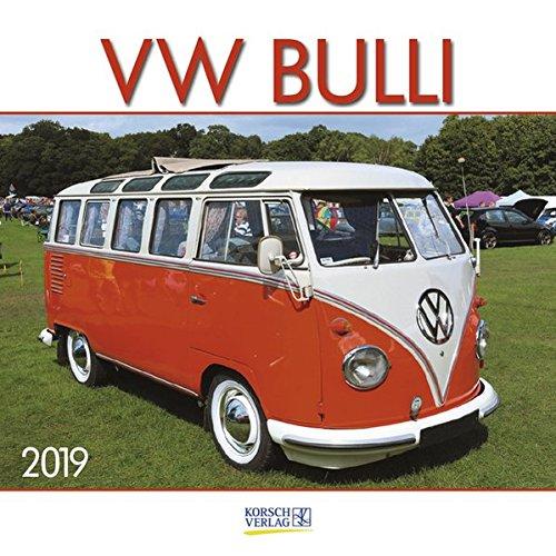 VW Bulli 2019: Broschürenkalender mit Ferienterminen. Wandkalender als Hommage. 30 x 30 cm