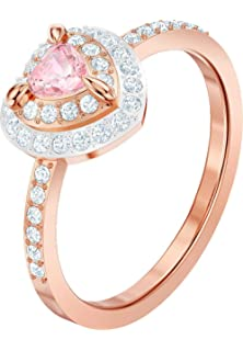 Swarovski Damen Ringe Edelstahl Kristall ' Ringgröße 55