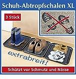 Wenko Schuh-Abtropfschalen XL, 3er Set