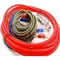 Instalación de cableado Amplificador 1500w Cable de audio para amplificador de coche Kit de instalación de altavoz de subwoofer Cable de alimentación 8ga Soporte de fusible de 60 amperios