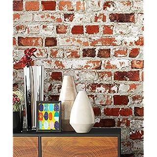 Steintapete Rot Weiß Rustikal Natur Stein , Schöne Edle Tapete Im  Steinmauer Loft Design , Moderne