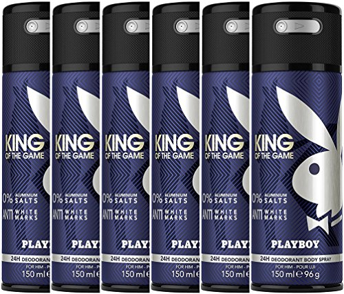 Playboy King of the Game Deo Body Spray, 6er Pack (6x150ml)