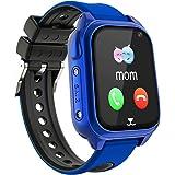 Impermeable GPS Smartwatch para Niños, IP67 Impermeable Reloj Inteligente Phone con GPS LBS Tracker SOS Chat de Voz Cámara Po