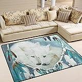 ingbags Super Weich Moderner Traumfänger Wolf, ein Wohnzimmer Teppiche Teppich Schlafzimmer Teppich für Kinder Play massiv Home Decorator Boden Teppich und Teppiche 160x 121,9cm, multi, 63 x 48 Inch