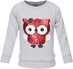 Stop by Shoppers Stop Girls Round Neck Embellished Sweatshirt
