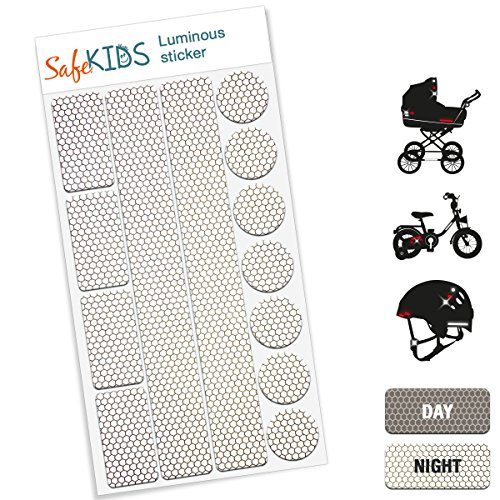 bicycle helmets and more reflective sticker 13 stickers for pushchairs
