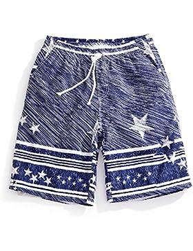 OME&QIUMEI Pantalones De Playa Beach Spa Seco Rápido Macho Boxer Sueltos Troncos De Natación Entre Padres E Hijos...