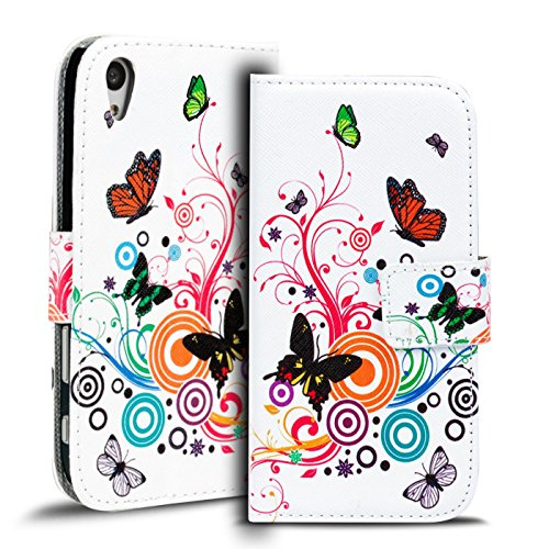 Verco Handyhülle Xperia Z5 Premium Muster, Motiv Hülle Sony Xperia Z5 Premium Book Case Flip Cover - Design 8