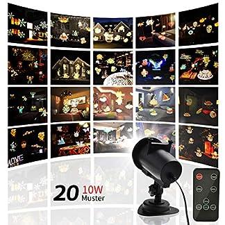 LED-Projektor-Lichter-Light-20-Wechselbaren-Motiven-LED-Effektlicht-Wasserdicht-IP65Weihnachten-Projektionslampe-Mit-Zeitkontrolle-Und-RF-Fernbedienung-fr-AuenInnen-5m-Netzkabel